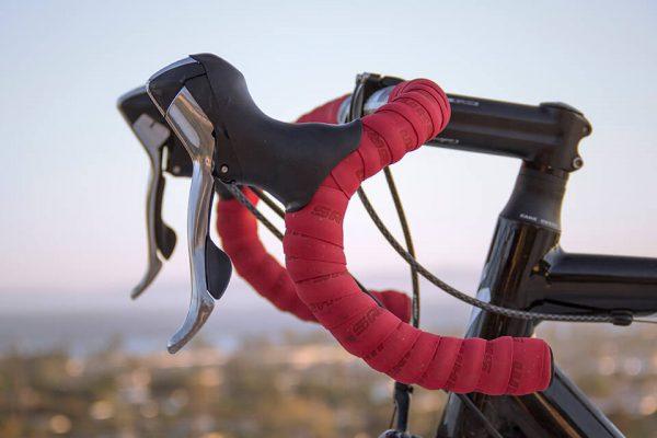 Racing bike handles red